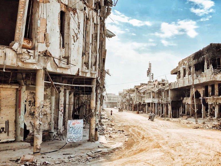 War-ravaged city of Mosul, Iraq